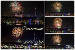 Das Feuerwerk vom Winterleuchten 2017/18 im Westfalenpark Dortmund.  Das ist die Sicht vom Kaiserberg am Phoenixsee. (Frank Heldt Photography) Tags: