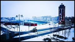 La Tour du Leughenaer sous la neige. (Tamara P.) Tags: dunkerque paysage hautsdefrance nord placeduminck tourduleughenaer leughenaer neige dunkirk snow mer sea