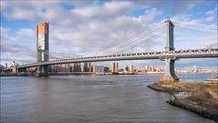 Manhattan Bridge Day to Night Time Lapse (Michael.Lee.Pics.NYC) Tags: newyork empirestores rooftop brooklyn brooklynbridgepark dumbo empirefultonferry timelapse video eastriver onemanhattansquare manhattanbridge sunset night twilight bluehour daytonight sony a7rm2 zeissloxia21mmf28