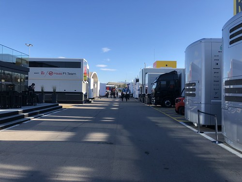 The paddock at Formula One Winter Testing 2018