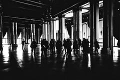 El Salon (por agustinruizmorilla) Tags: people madrid city arquitectura architecture la ciudad bn pedestrian street light zebra crossing bridge sidewalk avenue rush hour elevated walkway london millennium footbridge bampn bampw agustin ruiz morilla