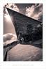 Points of Reflection (Parallax Corporation) Tags: media city salfordquays architecture mediacity bbcnorthwest wideangle tritone blackandwhite sunrays sunburst sonya7r2 sonyfe1635f4