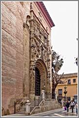 Calle Santa Maria. Malaga. (ro-co) Tags: fz200 panasonic malaga cathederals spain street borders