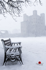 Rochester in Snow (G Bond) Tags: rochester castle snow tree silhouette kent bench pov
