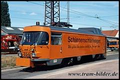 034-2003-08-16-1-Betriebshof Freiimfelder Straße (steffenhege) Tags: hallesaale strasenbahn streetcar tram tramway arbeitswagen schleifwagen ckd t4d 034