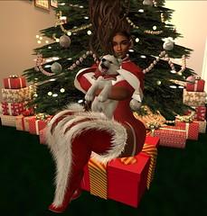 Chantel Gaall xmas fit (Sultry ALLURE) Tags: chantelsatine christmas 2017 ncore red dreadlocks mandala besom jian