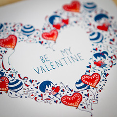 Valentine Card (kiddy factory) Tags: kids illustration illust drawing valentine valentines event heart cards stationary