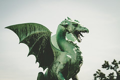 (c) Wolfgang Pfleger-8129 (wolfgangp_vienna) Tags: ljubljana slovenien bridge brücke slovenia statue figure green grün dragon drache