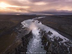Selfoss Sunrise Aerial View (Mike Ver Sprill - Milky Way Mike) Tags: selfoss sunrise aerial view sun clouds cloudy sunset flying above travel waterfall water fall waterfalls drone mavic pro river stream beautiful iceland nature landscape