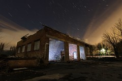 Do You Come Here Roften? (Rob Pitt) Tags: roften industrial estate hooton wirral night light painting tokina 1116 torchlit startrails derelict abandoned 750d uk cheshire