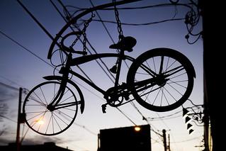 Bicycle bike shop sign
