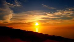 Fire !! (Nicolas Devaud) Tags: sunset landscape nature natural photography earth wild wideangle dune sun horizon winter light colored clors colors samsugn s7edge seascape clouds sky skyline skybrillance skyporn life enjoying walk alone dayoff bayside arcachon