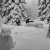 black snowboarder in white wonderland (genelabo) Tags: white snow schnee mountain berge bavaria bayern freeriden skiing snowboarden snowboarder laber bergbahn oberammergau oberammergauer alpen alps genelabo sony sport outdoor winter sw bw black monochrome schwarz weis