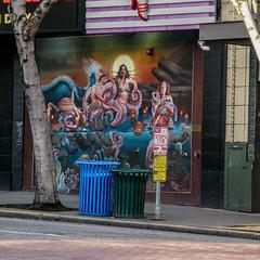 Deja Vu Mural (prima seadiva) Tags: market pikeplace red firstave pikestreet showgirls dejavu