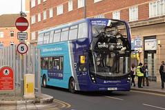 AMN 4543 @ Leicester Haymarket bus station (ianjpoole) Tags: arriva midlands alexander dennis enviro 400mmc yy67hdj 4543 working sapphire route 31a leicester haymarket bus station kew drive oadby