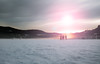 Gefroren (simonpe86) Tags: deutschland sunset see sonnenuntergang schwarzwald dusk rays sonnenstrahlen romantik romance beautiful blau sky titisee blue himmel gefroren clouds