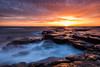 Browns Bay (Michael Halliday) Tags: coast clouds sea seascape sunrise water waves cullercoats rocks morning northumbria northtyneside nikon nikond600 nikkor2470f28ged hitech