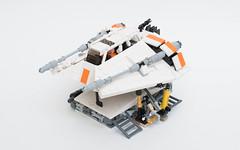 T-47 airspeeder | front (quý) Tags: lego star wars snowspeeder fighter ship starwars hoth moc instructions minifigure