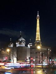 IMG_2280rXs Copyright Michel Bec (michel_bec) Tags: alma eiffel orthodox russian church paris parisbynight iphone iphone6s eiffeltower