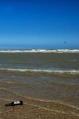 Message in a Bottle !! (jo.misere) Tags: zee beach bottle fles surfen wind