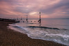 Landguard HR (Craig Goldie) Tags: sea felixstowe landguard waves sunset radar ocean seascape water bay shore port sky clouds shingle breakwater seadefence suffolk eastanglia coast coastal
