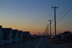 Good Night Truro (brucetopher) Tags: sunset goodnight night evening sky cloud street powerlines poles pole wire electrical poleelectrical wirestelephone polerowhousestownhousecottagescottagedarknessbeach rental
