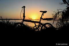 Sunrise Silhouette, Lake Hancock at Circle B Bar Reserve (alan jackman) Tags: sunrise over lake hancock circle b bar reserve alanjackman jackmanonjazz bicycle silhouette lakehancock nikon d7000 nikkor 1855mm florida lakeland h