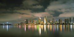 San Diego (shishirmishra1) Tags: city sandiego cityscape landscape architecture reflection waterfront dramatic sky usa california