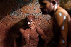 Kushti (silvia.alessi) Tags: contrast light people portrait orange sand india mumbai asia wrestlers kushti ngc