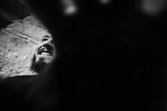 Autoportrait ? (theodirector) Tags: monochrome blackandwhite people wideangle 14mm samyang samyang14mm noiretblanc contrast hand dark shadow shadows darkside hands mano nopicture beard beardman youngman french frenchman france portrait autoportrait teeth smile ultrawideangle lowangle lowangleshot moustache happy smiling happiness me hide hidden naturallight naturallighting sunlight