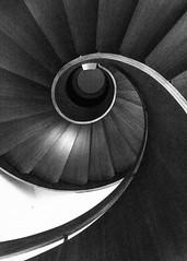 HSS! (deborahb0cch1) Tags: stairs spiral bois curve minimal geometric monochrome noiretblanc blackandwhite