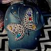 7756 -:- A Pearl and Rhinestone Butterfly Demin Cap (buddhadog) Tags: harambeefestival pearls rhinestones demincap hat