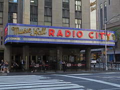 Radio City Music Hall (Multielvi) Tags: new york city ny nyc manhattan radio music hall street sign