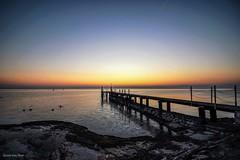 The pier (IVAN 63) Tags: landschaften lake gardasee gardalake water beach sirmione lagodigarda