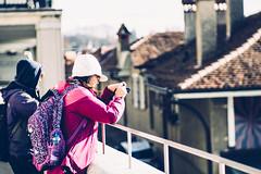Shooting - over the Roofs of Berne (*Capture the Moment*) Tags: 2017 bern berne city fotowalk mog mogprimoplan1975neo meyeroptikgörlitzprimoplan1975neo people schweiz sonya6300 sonyilce6300 stadt street streetlife switzerland vintage