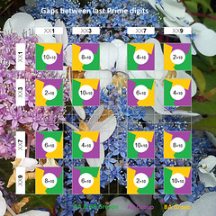 Last Prime digit gaps (Absolute Chaos) Tags: prime primenumbers primenumbertheory chaostheory gaps transition groups lastprimedigit rotation gapsize evennumbers oddnumbers maths mathematics joyofnumbers random consecutive colourcode consecutiveprimebias bias follow repeat numbers settheory common uncommon