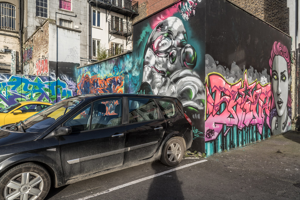 STREET ART AT THE TIVOLI CAR PARK IN DUBLIN [LAST CHANCE BEFORE THE SITE IS REDEVELOPED]-135598