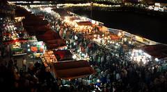 Jemaa El Fna at night (jfraile (OFF/ON slowly)) Tags: jemaaelfna marrakech maroc morocco marruecos street mecado calle market gente comida people food noche night javierfraile jfraile streetphotography