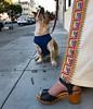 Mama's boy, before he got his custom embroidered denim vest. #buddyciancithedog (seanflannagan) Tags: dog bassetmix shorty mamasboy 70svintage 70sfashion 70sdress larkin rainbowpattern platformshoes buddyciancithedog buddy