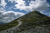 View towards the summit of Croagh Patrick County Mayo Ireland (Mal B) Tags: view from kilmeena county mayo ireland croagh patrick summit chapel irish cruach phádraig meaning saint patricks stack nicknamed reek is 764 metres 2507 ft mountain an important site pilgrimage