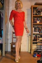 DSC_0032 (magda-liebe) Tags: anklet crossdresser french tgirl highheels shoes minidress travesti chainedecheville