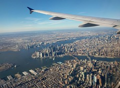 NY from a plane  window (elnina999) Tags: newyork ny nyc newyorkcity northeast manhattan brooklyn aerial americanairlines commercial airliner airplane plane flight windowseatview sightseeing visitors travel traveling landmark adventure vacation clearsky bluesky googlepixel mobilephotography