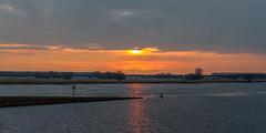 Endless Elbe (lucico) Tags: 2014 wittenberge sunset eu river elbe bridge sign reflection water deutschland germany europa europe brandenburg