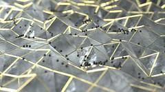 Untitled 5 (RandomMan) Tags: oct octane render octanerender glass scratches gold 3d c4d cinema4d abstract digitalart dof everyday test physics maxon otoy noise smooth macro