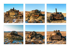 Battered (Paul Weller Photography) Tags: otterburnranges chieftaintank military rus barrel gun northumberland army target moors abandoned t55 winter snow