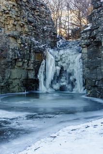 Frozen Princess Falls Hamilton Canada