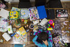 Day 4001 (evaxebra) Tags: wh wah table mess messy tired markers chia puzzle computer mail sulley sully pajamas sleeping