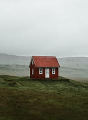 Minimalism (marinaweishaupt) Tags: iceland cabin house architecure red minimalism travel hut