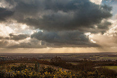 Winter Storms (Steve Samosa Photography) Tags: stormy storm clouds cloudy sunbeams sunlight billinge