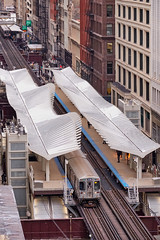 New CTA station. (bkkay1) Tags: chicago cta train tracks